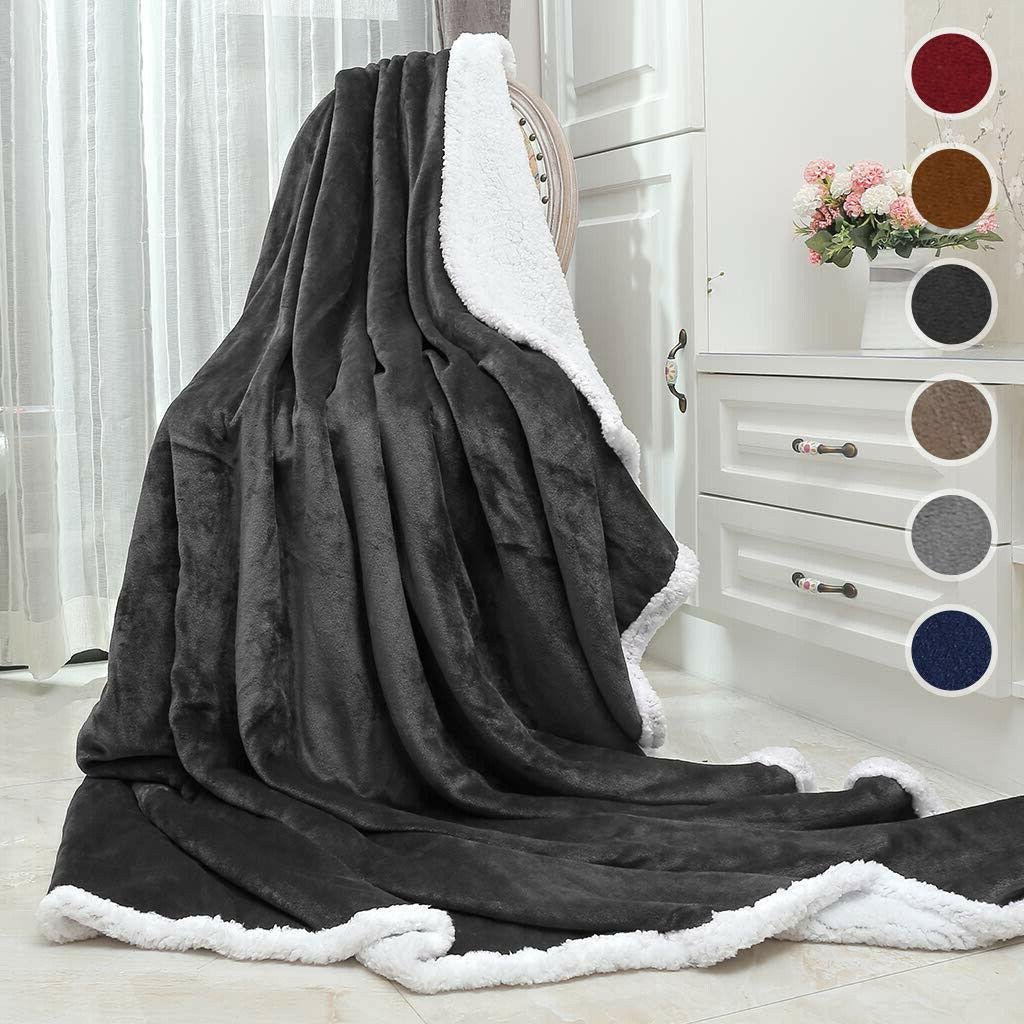 weighted blanket adult gravity deep relax sherpa