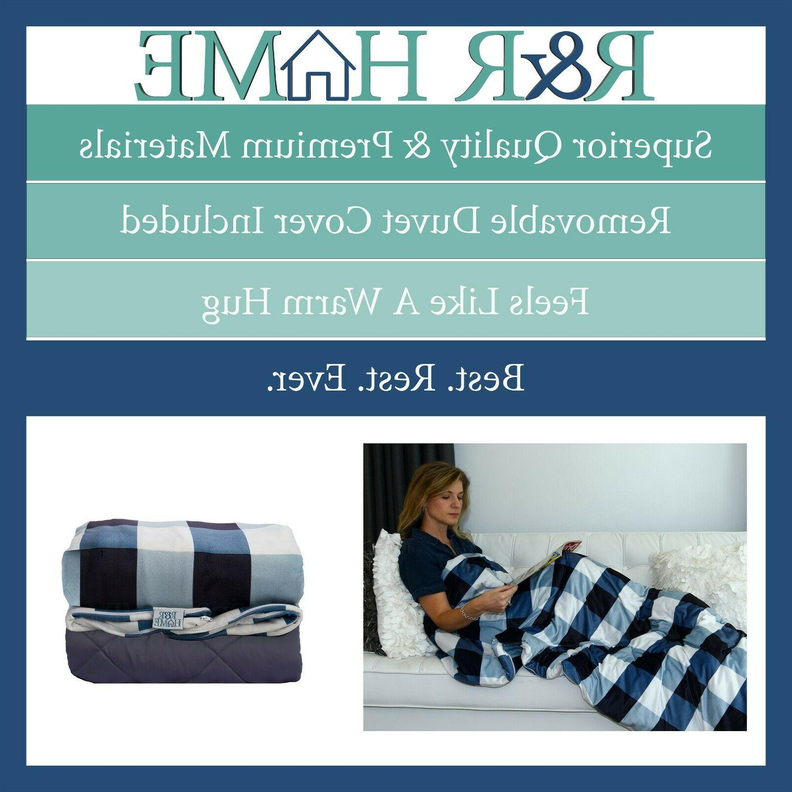 Weighted Blanket | 10, 15, 20 lbs Navy Blue &