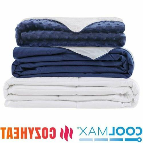 Weighted Blanket Queen Full 60''x80'' 15lb 20lb Reduce Stres