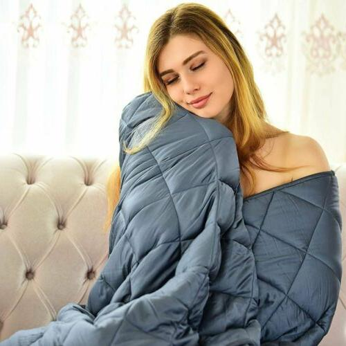 Heavy 15lbs 20lbs Weighted Blanket Full Queen Size Promote D