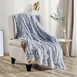 Luxury Plush Fluffy Shaggy Faux Fur Blanket for Bed Sofa War