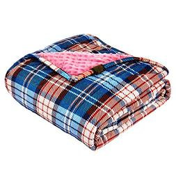 YnM Minky Weighted Blanket, 15lbs 48''x 72'' Ultra-Soft 2.0