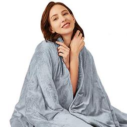 Hiseeme Softest Weighted Blanket for Adults, Women | 18lbs,