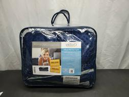 NEW Quility 20lbs Weighted Blanket With Cover In BLUE/Grey