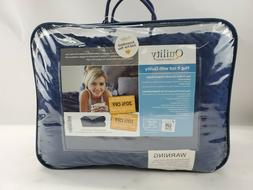 """NEW Quility Weighted Blanket Blue/Grey 60"""" x 80"""" 15 Lbs WB-A"""