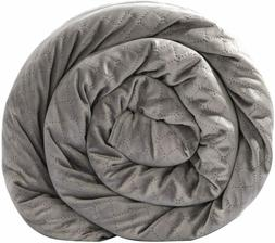 NEW - BlanQuil Quilted Weighted Blanket W/Removable Cover