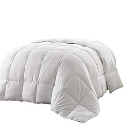 Piped Edges Super Soft White Down Alternative Comforter King