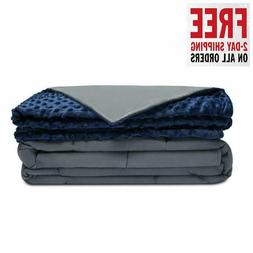 Quility Premium Adult Weighted Blanket & Removable Cover | 2