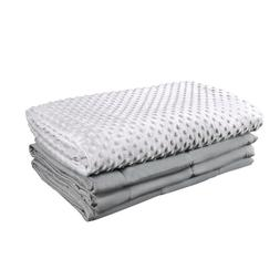 premium adult weighted blanket and removable minky