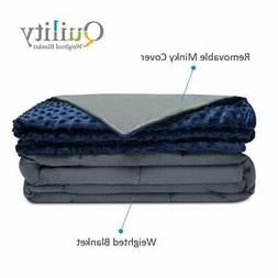 Quility Premium Kids & Adult Weighted Blanket & Removable Co