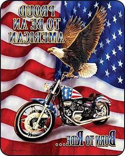 Regal Comfort Proud to Be an American Born to Ride Medium We