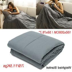 Queen Size Weighted Blanket 60''x80'' 15lbs 20lbs Reduce Str