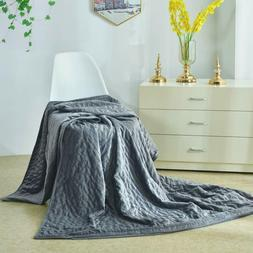 "60x80""Velvet Removable Duvet Cover For Weighted Blanket Quee"