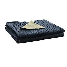 ZonLi Removable Duvet Cover for Weighted Blanket | Grey/Navy