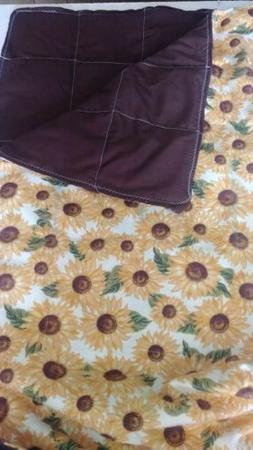 Sunflowers weighted blanket 10 lbs 42 x 72