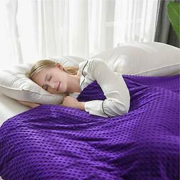 UFRIDAY Weighted Blanket & Removable Minky Cover for Adult (