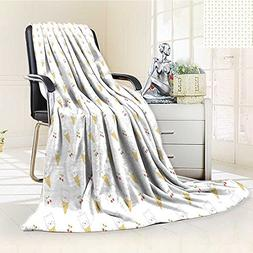 AmaPark Weave Pattern Extra Long Blanket Kitty Cones with St