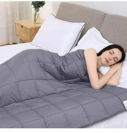 """Kpblis Weighted Blanket 10 lbs 48"""" x 72"""", 100% Cotton Fabric"""