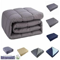 Weighted Blanket 10lbs - 30lbs Heavy Sensory Blanket Promote