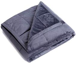 "Kpblis Weighted Blanket 15 lbs 48"" x 72"" for 130-170 lbs, Tw"