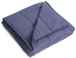 "Kpblis Weighted Blanket 15 lbs 48"" x 72"" for 130-170 lbs, 10"