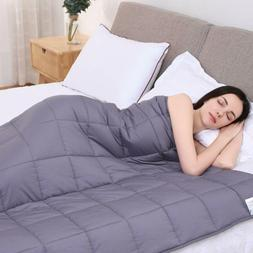 """Kpblis Weighted Blanket 15 Lbs 48"""" X 72"""" For 130-170 Lbs, 7"""
