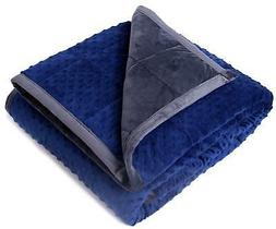 "Kpblis Weighted Blanket 15 lbs 48"" x 72"" for 130-170 lbs Twi"