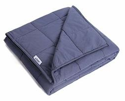 """Weighted Blanket 15 lbs 48"""" x 72"""" Gravity Blanket 100% Cotto"""