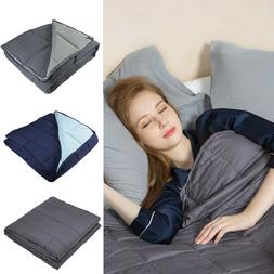 Weighted Blanket 15lbs/20lbs Reduce Stress Promote Deep Slee