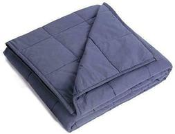 Kpblis Weighted Blanket 22 Lbs 60 X 80 100 Cotton Fabric Ful