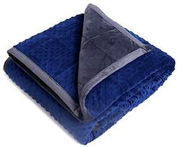 "Kpblis Weighted Blanket 5 lbs 36"" x 48"" for 30-70 lbs, Plush"
