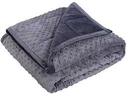 """Kpblis Weighted Blanket 15 lbs 48"""" x 72"""" for 130-170 lbs, Tw"""