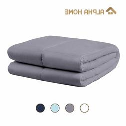 """ALPHA HOME Weighted Blanket, 60""""x80""""-20 lbs Adult Cotton Hea"""