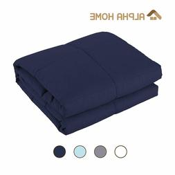 "ALPHA HOME Weighted Blanket, 60""x80""-25 lbs Adult Cotton Hea"