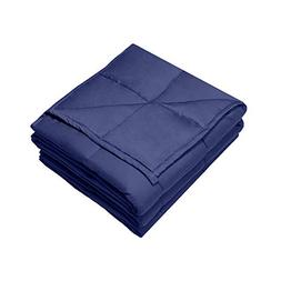 """Syrinx Weighted Blanket, 20 lbs, 60"""" x 80"""", Navy Blue, Fit Q"""