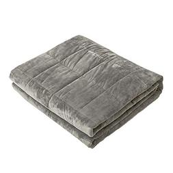 "Syrinx Weighted Blanket, 15 lbs, 60"" x 80"", Carbon Gray, Fit"