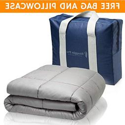 Snuggle Pro Weighted Blanket Adult, 20 lbs Heavy Blanket for
