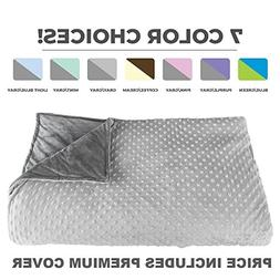 "Premium Weighted Blanket, Perfect Size 60"" x 80"" and Weight"