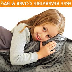 Snuggle Pro Weighted Blanket for Kids, 7 lbs Heavy Blanket,