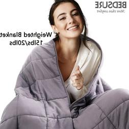 Bedsure Weighted Blanket Adult Sensory Anxiety 100% Cotton B