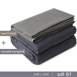 Admitrack Weighted Blanket & Removable Cover  Heavy Blanket
