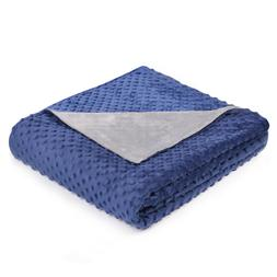"""Weighted Blanket Cover 48"""" X 72"""", Super Soft Removable Plush"""
