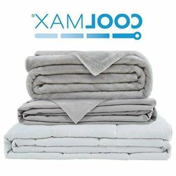 """Weighted Blanket / Cover 60"""" x80"""" Queen Full 15lb 20lb Relie"""