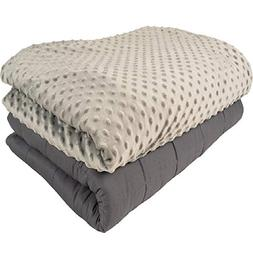 Aviano 20lbs Weighted Blanket  with Plush Microfiber Duvet C