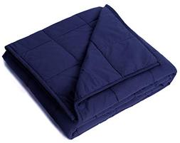 """Kpblis Weighted Blanket 15 lbs 48"""" x 72"""" for 130-170 lbs, 10"""