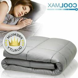 Heavy Cool Weighted Blanket Full Queen Size 100% Cotton Adul