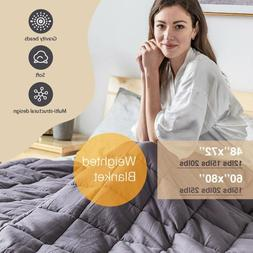 "Weighted Blanket Reduce Stress Promote Deep Sleep 60''X80"" 4"