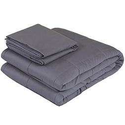 Weighted Idea Small Weighted Blanket Set | 36''x48'' | Grey