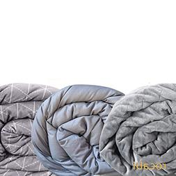 rocabi Weighted Blanket 25 lbs & Three Cover Bundle | Queen