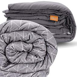 """rocabi 30 lbs Weighted Blanket & Two Cover Bundle 
